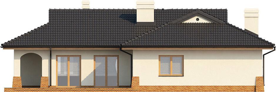 Projekt domu L-6331 - elewacja