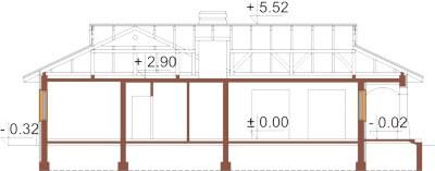 Projekt domu L-6331 - przekrój