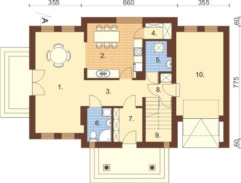Projekt domu DM-6332 - rzut