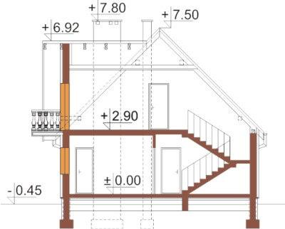 Projekt domu DM-6332 - przekrój
