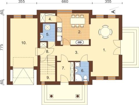 Projekt domu L-6332 - rzut