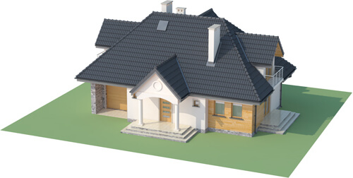 Projekt domu L-6332 - model