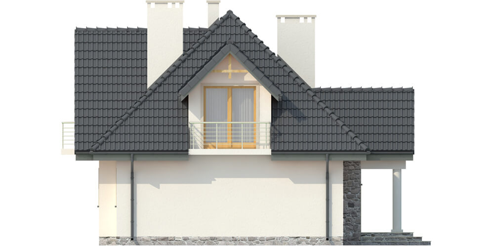 Projekt domu L-6332 - elewacja