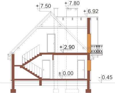 Projekt domu L-6332 - przekrój