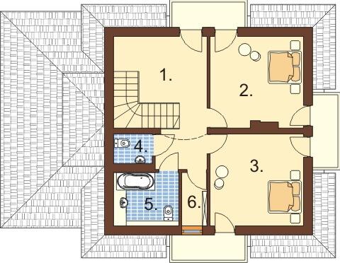 Projekt domu DM-6333 - rzut