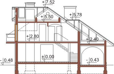 Projekt domu DM-6333 - przekrój