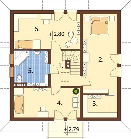 Projekt domu L-6337 - rzut