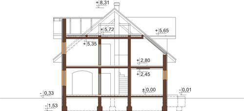 Projekt domu L-6337 - przekrój