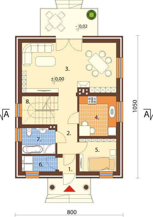 Projekt domu DM-6339 - rzut