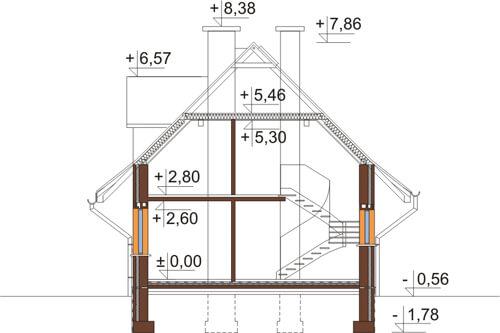 Projekt domu DM-6339 - przekrój