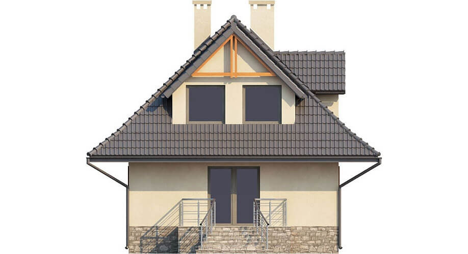 Projekt domu L-6339 - elewacja