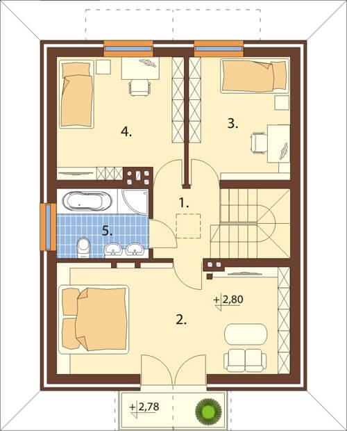 Projekt domu L-6339 - rzut