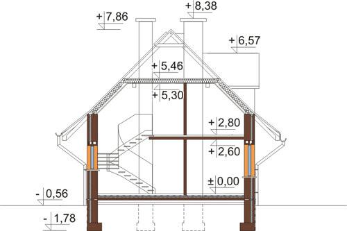 Projekt domu L-6339 - przekrój