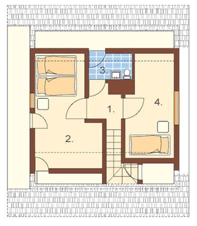 Projekt domu DM-6082 - rzut
