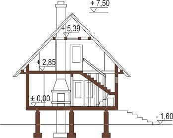 Projekt domu DM-6082 - przekrój