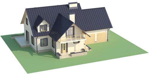 Projekt domu DM-6345 - model