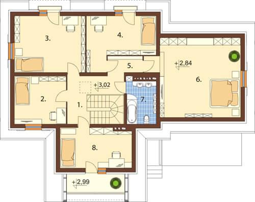 Projekt domu DM-6345 - rzut