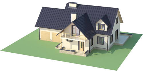 Projekt domu L-6345 - model
