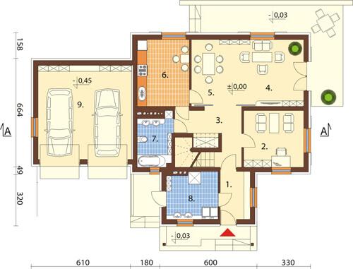 Projekt domu L-6345 - rzut