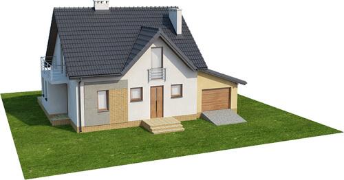 Projekt domu DM-6347 - model