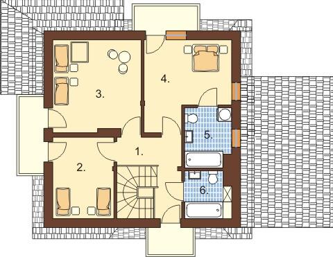 Projekt domu DM-6347 - rzut