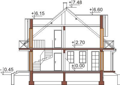 Projekt domu DM-6347 - przekrój