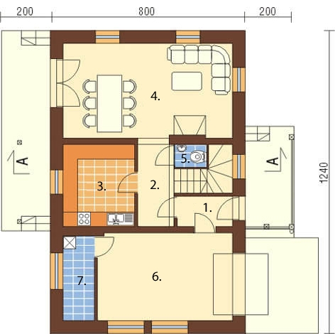 Projekt domu DM-6083 - rzut