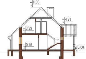 Projekt domu DM-6083 - przekrój