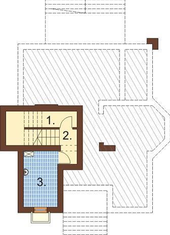 Projekt domu L-6351 - rzut