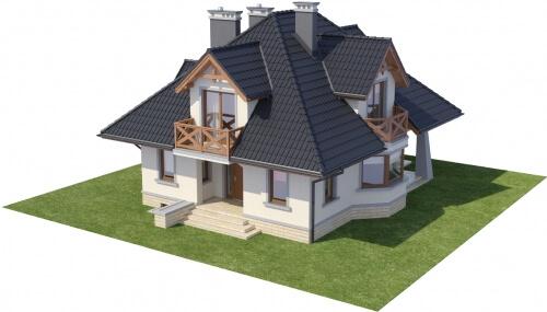 Projekt domu L-6351 - model