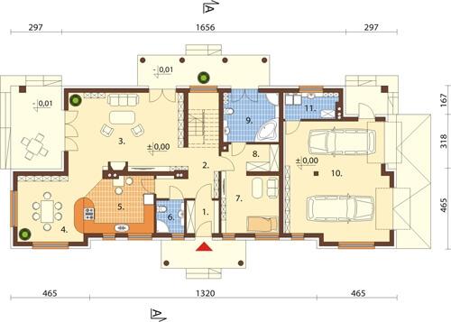 Projekt domu DM-6348 - rzut