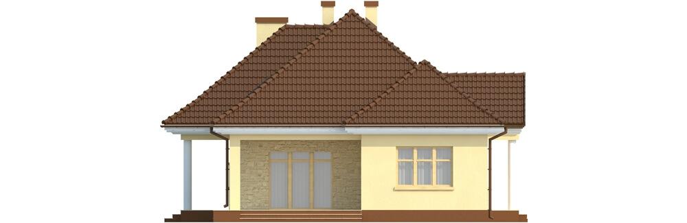 Projekt domu DM-6348 - elewacja