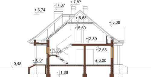 Projekt domu DM-6348 - przekrój