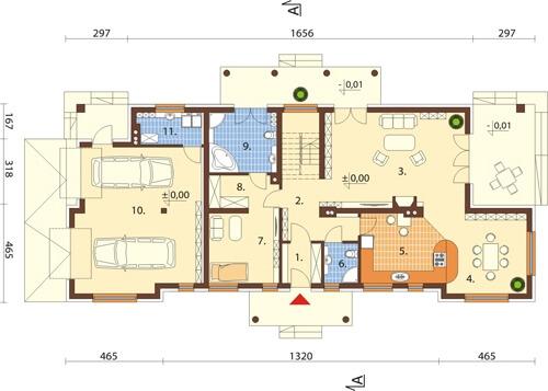 Projekt domu L-6348 - rzut