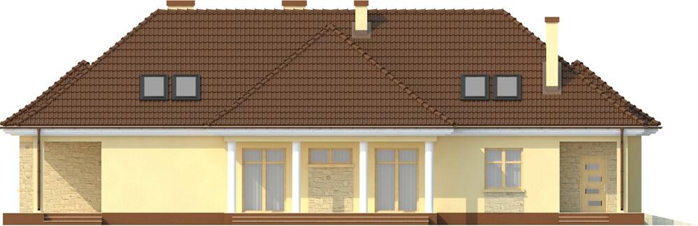 Projekt domu L-6348 - elewacja