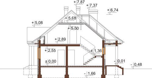 Projekt domu L-6348 - przekrój