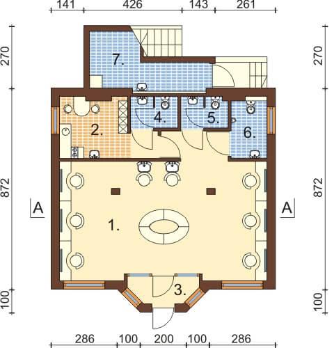 Projekt domu DM-6360 - rzut