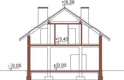 Projekt domu DM-6360 - przekrój