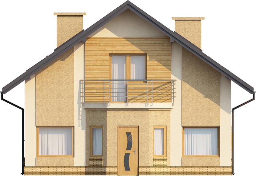 Projekt domu L-6360 - elewacja