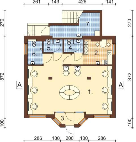 Projekt domu L-6360 - rzut