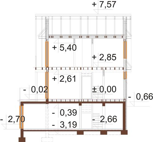 Projekt domu L-6324 - przekrój