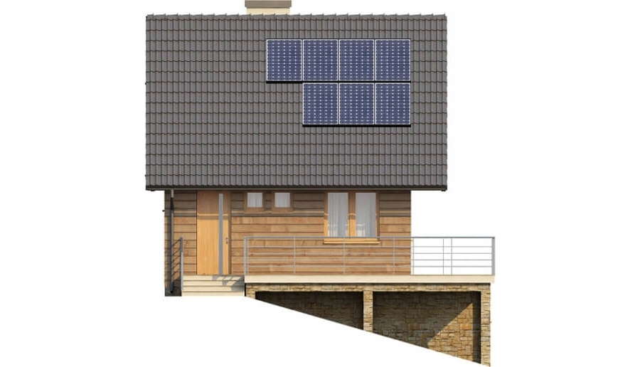 Projekt domu L-6324 - elewacja