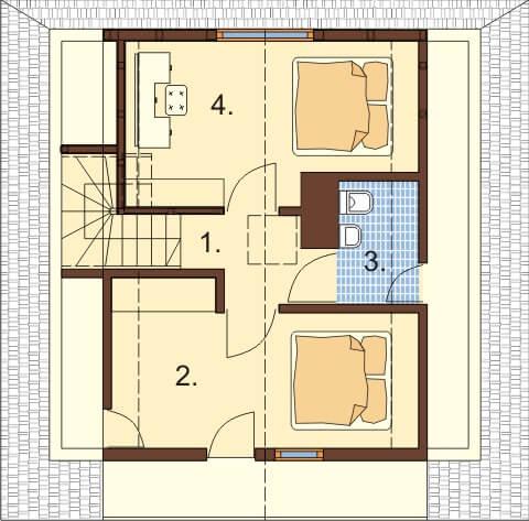 Projekt domu L-6324 - rzut