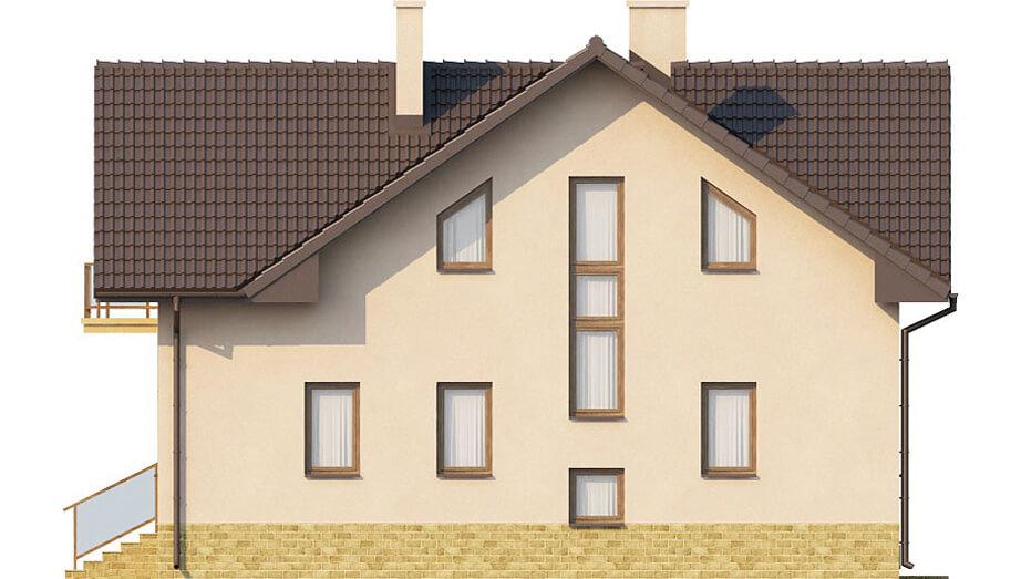 Projekt domu L-6327 - elewacja