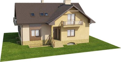 Projekt domu L-6327 - model