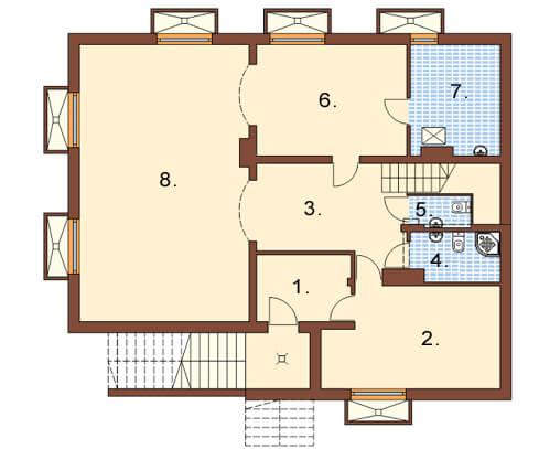 Projekt domu L-6327 - rzut