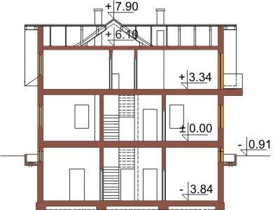Projekt domu L-6327 - przekrój