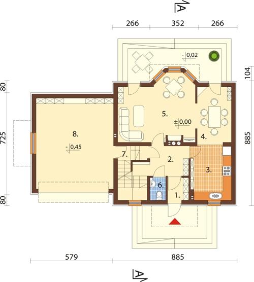 Projekt domu DM-6341 - rzut