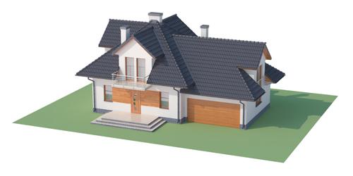 Projekt domu L-6341 - model