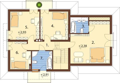 Projekt domu L-6341 - rzut